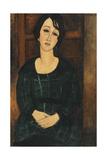 Woman in a Plaid Dress  1916