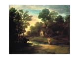 Wooded Landscape with Cattle by a Pool  1782