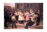 Children Dancing in the Street  1894