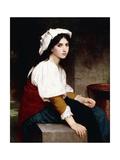 Italian Girl by a Fountain  1870