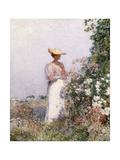 Lady in Flower Garden