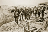 A Wiring Party Going Up to the Trenches  1916