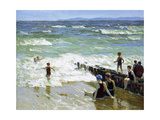 Bathers at Breakwater