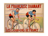 Poster Advertising 'La Francaise Diamant'  C1905