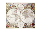 World Map from Atlas Maior  C1705