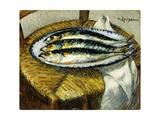 The Dish of Mackerels  C1923