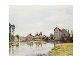 The Loing Below the Pont De Moret  1892