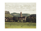 View of Ornans and its Bell Tower  C1858