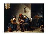 Peasants at Cards in a Cottage  C1644-45