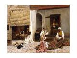A Rug Bazaar  Tangier  1878