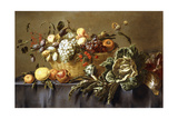 A Basket of Fruit on a Draped Table  C1635