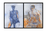 Diptych of Duncan Hume Dancing Aged 38  2011
