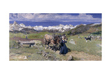 Springtime in the Alps  1897
