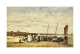 Fisherwomen Disembarking from Plougastel  1870