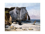 The Cliffs of Etretat  the Port of Avale  1869