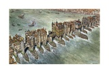 Old London Bridge  C 1600