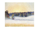Sunset and Mist at Eragny  1891