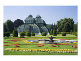 Palm House in the palace garden of Schoenbrunn Palace  Vienna  Austria