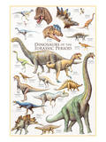 Dinosaurs, Jurassic Period Reproduction d'art