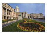 Buda castle with park  Budapest  Hungary