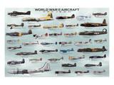 World War II Aircrafts Reproduction d'art