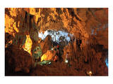 In the Cave of Awe Hang Sung Sot Grotto in Ha Long Bay  North Vietnam  Quang Ninh  Vietnam