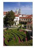 Baroque Garden of Vrtba Palace at Prague Lesser Town  Central Bohemia  Czech Republic