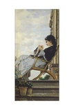 Woman Sewing on the Terrace  1882