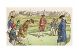 Golf Being Played in St Andrews in the 18th Century