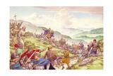 King Aethelfrith Sends Soldier to Slaughter Twelve Hundred Monks