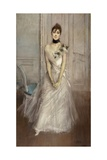 White Pastel  Portrait of Emiliana Concha De Ossa