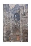 Rouen Cathedral Grey Day - Harmony in Grey  1892 - 1894