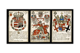French Seventeenth-Century Heraldic Playing Cards  C1658