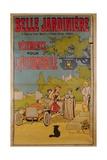 Poster Advertising 'La Belle Jardiniere' Department Store  1922