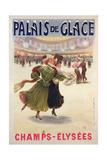 Poster Advertising the Palais De Glace Ice Rink on the Champs-Elysees