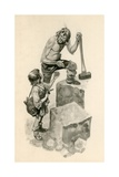 Michelangelo  as a Boy  Helping Stone-Cutters at their Work