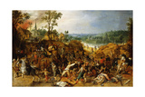 A Landscape with Marauders Attacking a Wagon Train and Pillaging a Village