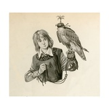 Prince Richard  the Future Richard the Lionheart  with a Hawk