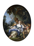 A Shepherd and a Shepherdess in Dalliance in a Wooded Landscape  1761