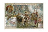 The Ostrogoths  Led by their King Theodoric  Crossing the Alps  489