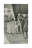 The Sons of Sultan Tippu are Received by Lord Cornwallis as Hostages