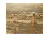 Boys Bathing in the Sea; Badende Knaben Im Meer  1899
