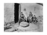 Grinding Grain in a Quern  Inishmurray  County Sligo  1900