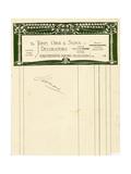 Stationery Design for John Orr and Sons  Glasgow  C1894-1898