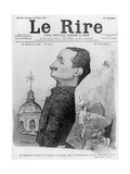 Caricature of Paul Deschanel  from 'Le Rire'  10 February 1900