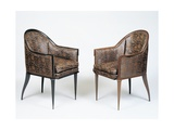 Pair of Art Deco Style Armchairs  Guinde Model