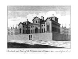 The South East View of the Middlesex Hospital  1745