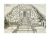 Garden at Villa Nani Mocenigo in Monselice  1697