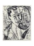 Self-Portrait with Cigarette  1915