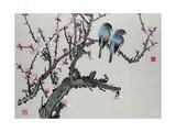 Pair of Birds on a Cherry Branch  Hunan Region  Republic Period